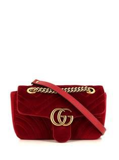 Gucci Pre-Owned мини-сумка на плечо GG Marmont