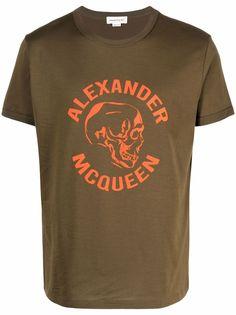 Alexander McQueen футболка с логотипом Skull