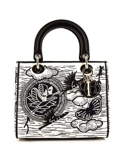Christian Dior сумка-тоут Lady Dior pre-owned среднего размера