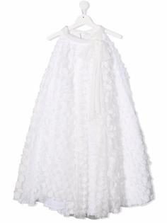 La Stupenderia платье без рукавов с цветочной аппликацией