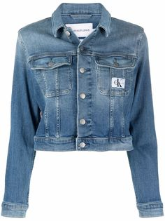 Calvin Klein Jeans джинсовая куртка с нашивкой-логотипом