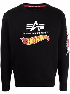 Alpha Industries толстовка с логотипом из коллаборации с Hot Wheels