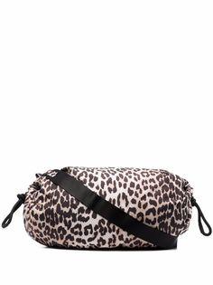GANNI сумка на плечо с леопардовым принтом