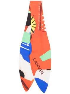 LANVIN шейный платок в стиле колор-блок