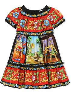 Dolce & Gabbana Kids платье с графичным принтом