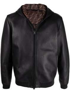 Fendi куртка на молнии с капюшоном