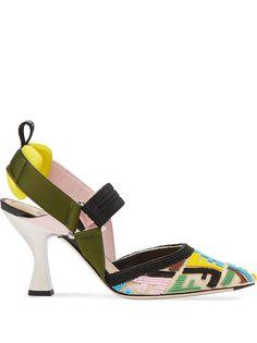 Fendi туфли Colibri с ремешком на пятке и логотипом FF