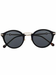 Gucci Eyewear солнцезащитные очки в круглой оправе