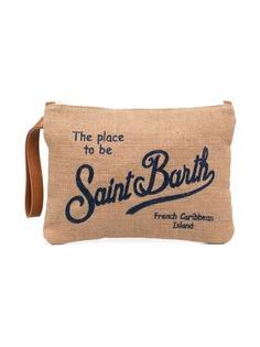 Mc2 Saint Barth Kids клатч на молнии с логотипом