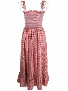 Kate Spade присборенное платье в клетку гингем