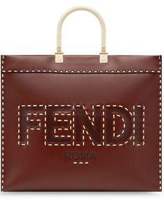 Fendi сумка-тоут Sunshine с декоративной строчкой