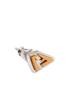 Fendi серьга с логотипом FF