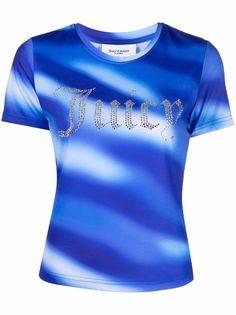 Juicy Couture декорированная футболка с логотипом