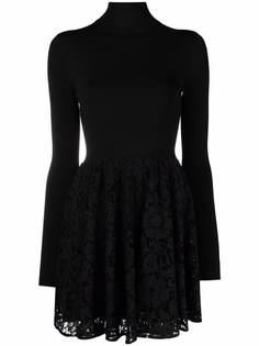 Valentino кружевное платье мини