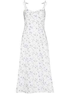 Reformation платье миди Joyce с цветочным принтом