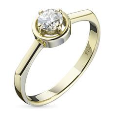Кольцо из желтого золота с бриллиантом э0301кц11134200 ЭПЛ Якутские Бриллианты
