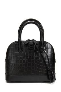 Черная кожаная сумка Ville Rivet Small Balenciaga