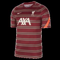 Мужская предматчевая игровая футболка с коротким рукавом Liverpool FC - Красный Nike