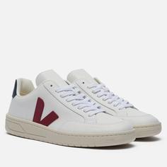 Мужские кроссовки VEJA V-12 Leather, цвет белый, размер 41 EU