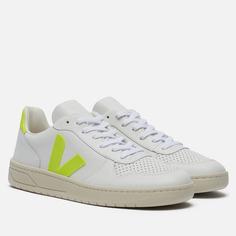 Мужские кроссовки VEJA V-10 Leather, цвет белый, размер 44 EU