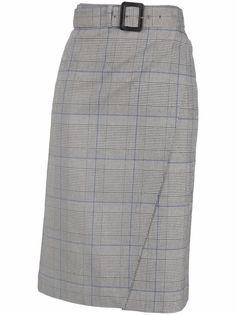 Patrizia Pepe юбка в клетку Prince of Wales с поясом