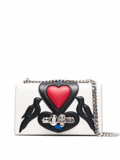 Alexander McQueen сумка через плечо Jewelled Satchel с аппликацией