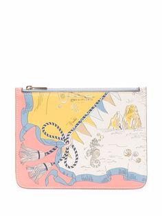 Emilio Pucci клатч-конверт с принтом Holidays