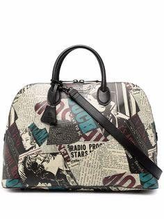 Moschino сумка-тоут с газетным принтом