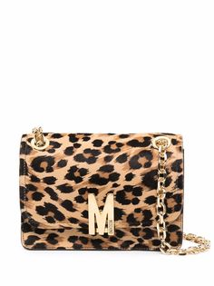 Moschino сумка на плечо с леопардовым принтом