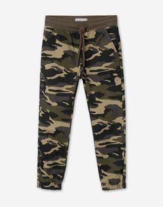Брюки-джоггеры с камуфляжным принтом для мальчика Gloria Jeans