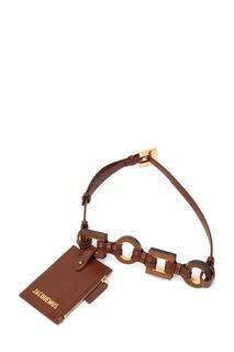 Коричневая поясная сумка La ceinture Ano Jacquemus