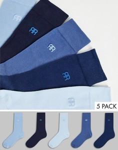 Набор из 5 пар носков синего цвета River Island-Голубой