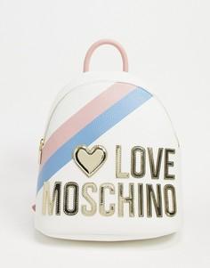Розовый рюкзак с большим логотипом Love Moschino-Розовый цвет