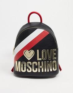 Черный рюкзак с большим логотипом Love Moschino-Черный цвет