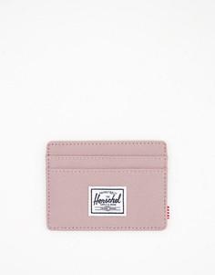 Пепельно-розовая кредитница Herschel Charlie-Розовый цвет