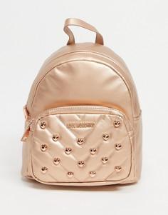 Рюкзак медного цвета с декоративными заклепками Love Moschino-Медный
