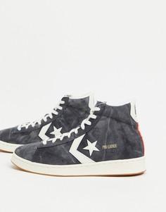 Высокие кроссовки выбеленного черного цвета из парусины и кожи Converse Pro Court Daze-Черный цвет