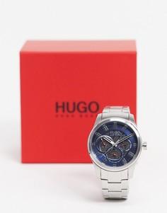 Мужские серебристые часы-браслет Hugo 1530191-Серебристый