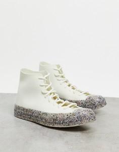 Кроссовки с текстильным верхом в цвете эгрет Converse Chuck 70 Hi Renew-Белый