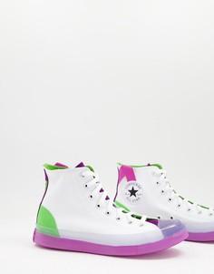 Белые высокие кроссовки Converse Chuck Taylor All Star CX-Белый