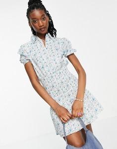 Платье-рубашка с присборенной деталью и цветочным принтом Influence-Многоцветный