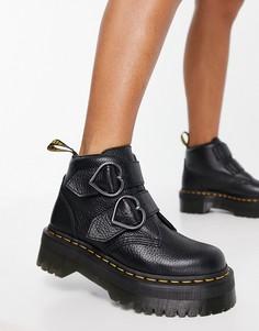 Черный ботинки Dr Martens Devon Heart-Черный цвет