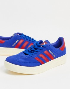 Ярко-голубые кроссовки adidas Originals Barcelona-Голубой
