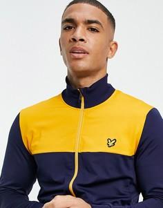 Спортивная куртка из технологичных материалов Lyle & Scott Sport-Темно-синий