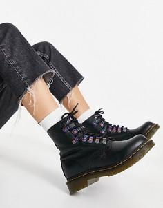 Черные ботинки с переливающейся фурнитурой Dr Martens 1460 Pascal-Черный цвет