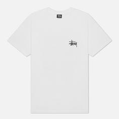 Мужская футболка Stussy SS Basic Stussy, цвет белый, размер M