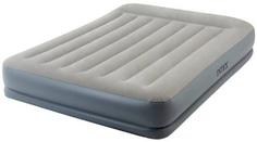Кровать надувная Intex Pillow Rest Mid-Rise, со встроенным насососом 220В, 152 см (64118)