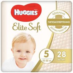 Подгузники Huggies Elite Soft, размер 5, 12-22 кг, 28 шт (9400775)