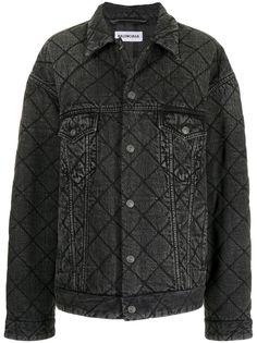 Balenciaga стеганая джинсовая куртка