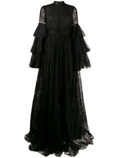 Giambattista Valli кружевное платье с оборками